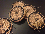 Bike Wheel Cork Coasters